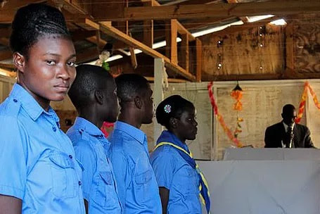 Uniforms are a source of pride in Haiti