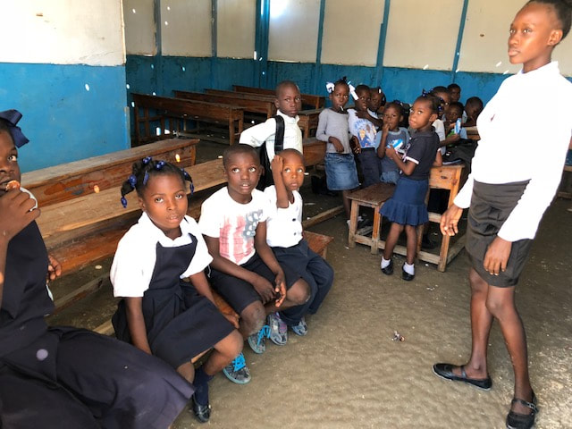 Aid in Haiti provides essentials for students
